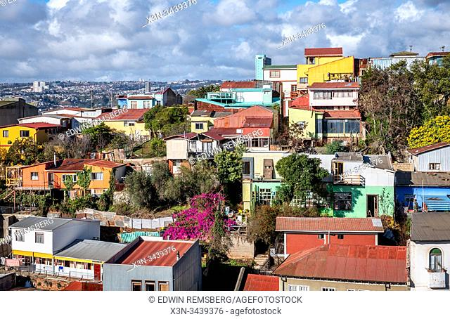 The colorful hillside seaport of Valparaiso, Chile