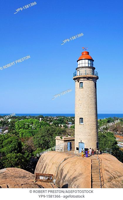 The lighthouse, Mamallapuram, Tamil Nadu, India