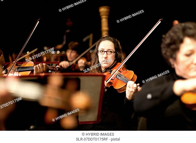 String section in orchestra