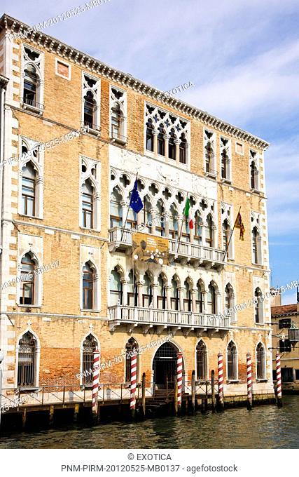 Building along a canal, Venice, Veneto, Italy