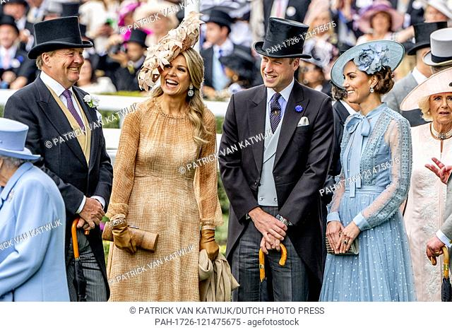 King Willem-Alexander and Queen Maxima of The Netherlands visit Royal Ascot together with Queen Elizabeth, Prince Charles