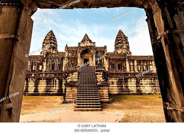 Temple in Angkor Wat, Siem Reap, Cambodia