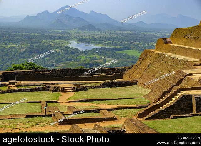 The fortress of Sigiriya Rock in Sigiriya, Sri Lanka
