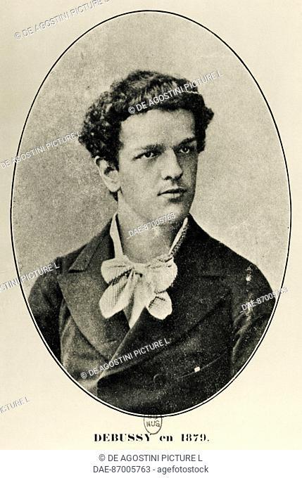 Portrait of Claude Debussy (Saint-Germain-en-Laye, 1862-Paris, 1918) French composer and pianist, in 1879.  Paris, Bibliothèque Nationale De France (Library)