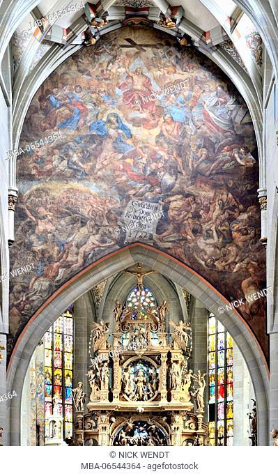 Minster St. Nikolaus Ãœberlingen, the Last Judgement by Carl Stauder