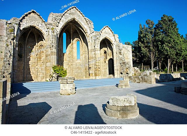 Byzantine Church of the virgin of Burgh, Rhodes city, Rhodes island, Dodecanese, Greek Islands, Greece, Europe