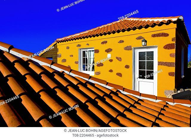 spain,canary islands, la palma : las tricias, house