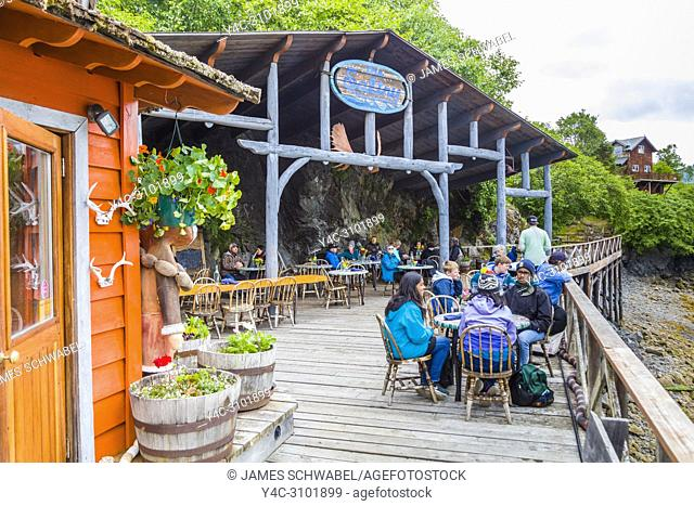 The Saltry Restaurant in Halibut Cove on the Kenai Peninsula across Kachemak Bay from Homer Alaska