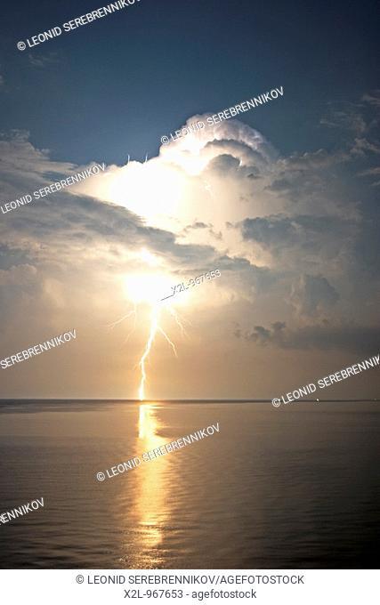 Lightning bolt  Corfu, Greece