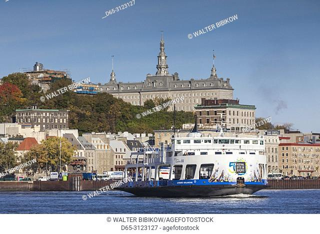 Canada, Quebec, Quebec City, Levis ferry on the St. Lawrence River