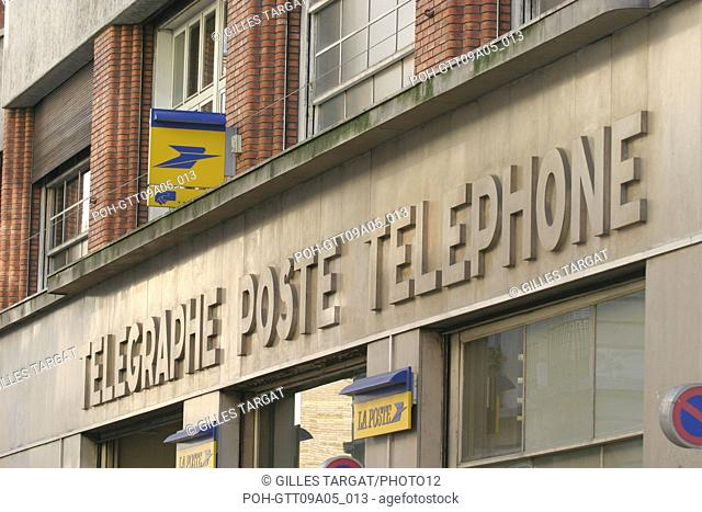 tourism, France, paris 18th arrondissement, telegraph, post, telephone, 21 rue duc, public service Photo Gilles Targat