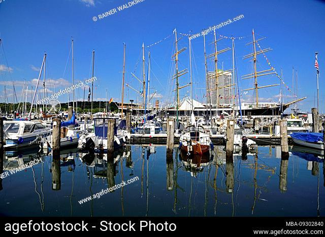 Europe, Germany, Schleswig-Holstein, Baltic Sea, Lübeck-Travemünde, Windjammer tradewind, Museum Ship, tradewind harbour