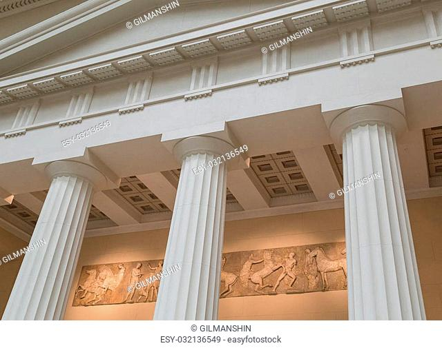 Pillars in old greek temple