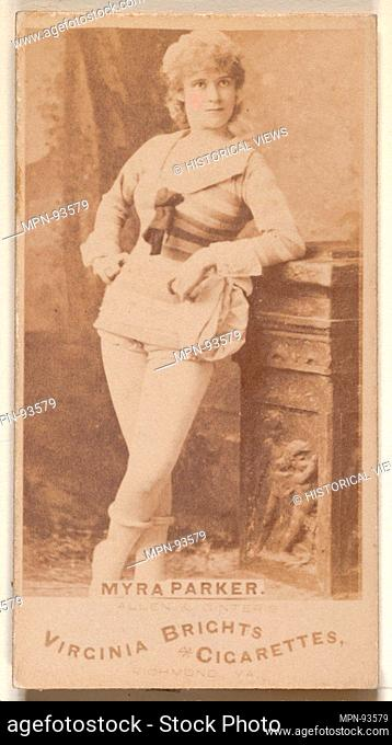 Myra Parker, from the Actors and Actresses series (N45, Type 1) for Virginia Brights Cigarettes. Publisher: Issued by Allen & Ginter (American, Richmond