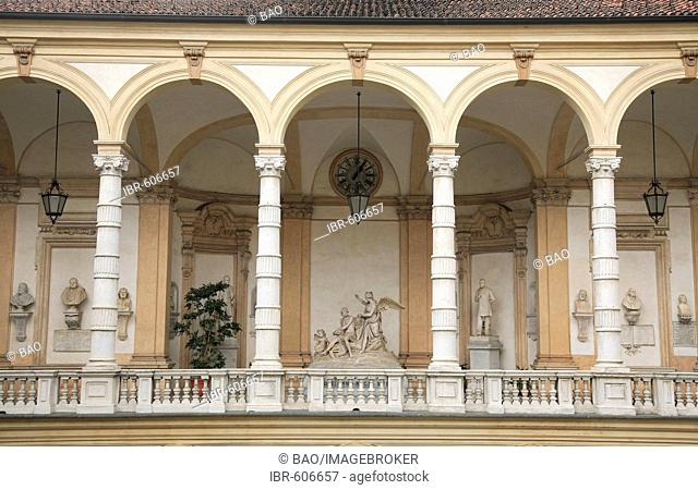Palazzo dell' universita in Via Po street, Turin, Piedmont, Italy, Europe