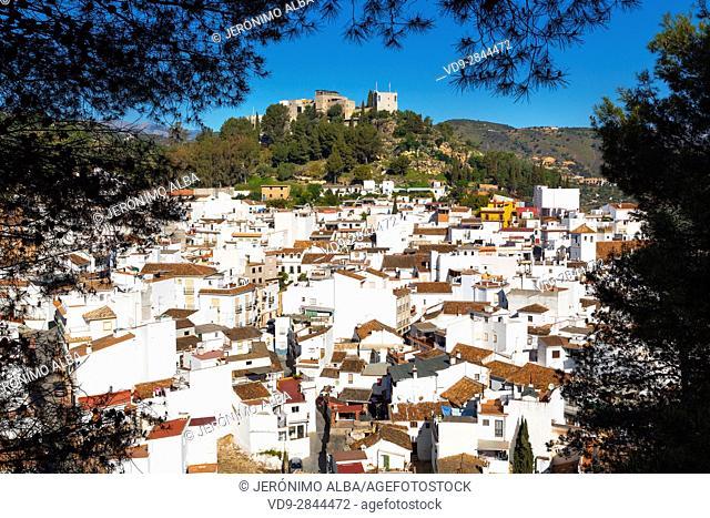 White village of Monda. Natural Park Sierra de las Nieves. Malaga province Costa del Sol. Andalusia Southern Spain, Europe