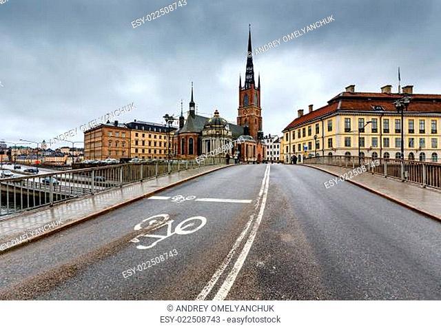 Riddarholmskyrkan Church in Stockholm Old Town (Gamla Stan), Swe