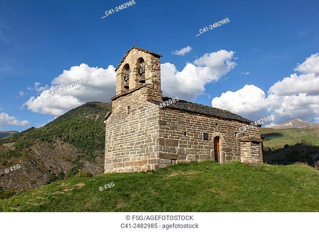 Ermita de Sant Quirc. Durro. Vall de boí. Lleida, Spain