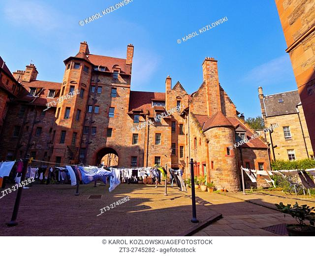 UK, Scotland, Lothian, Edinburgh, View of the Dean Village.