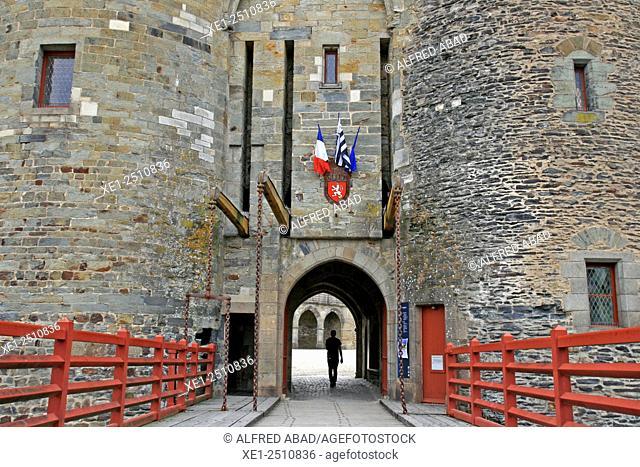 Vitré Castle, Normandy, France