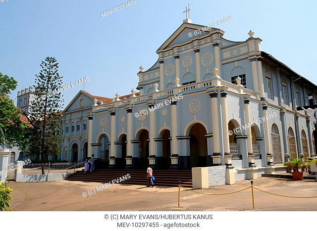 St Aloysius College Chapel in Mangalore, Karnataka, India. It was built n 1899-1900 and has been compared with the Sistine Chapel in Rome