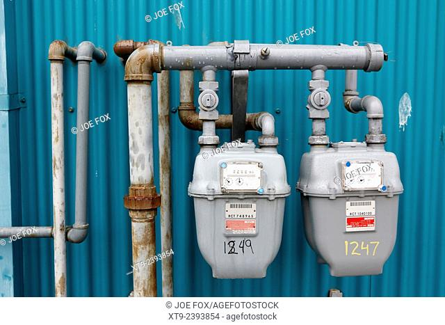 external gas meters on property Vancouver BC Canada