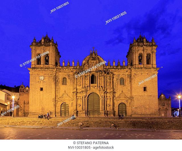Catedral del Cuzco, Cathedral at Plaza de Armas, Cusco, Peru, South America