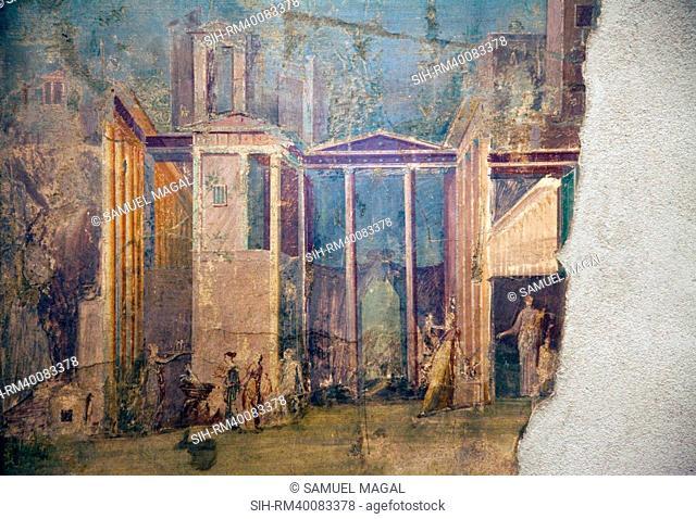 Italy, Naples, Naples Museum, Pompeii, House of the Group of Vases VI 13, 2, Medea and Peliadi