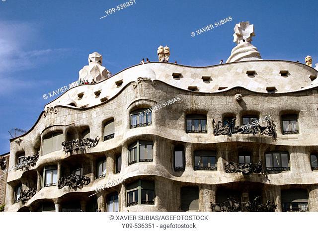 Mila House ('La Pedrera', 1906-1912) by Antoni Gaudí. Barcelona. Spain