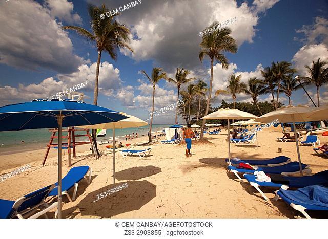 Scene from the Santa Maria del Mar beach, Playas del Este, La Habana, Cuba, West Indies, Central America