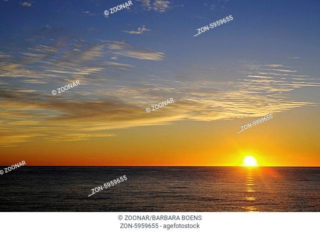 Sunrise, Mediterranean, Altea, Costa Blanca, Spain, Europe, Sonnenaufgang, Mittelmeer, Altea, Costa Blanca, Spanien, Europa