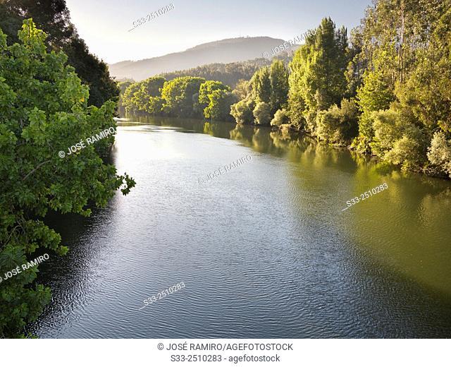 River Nalon in Pravia. Asturias. Spain