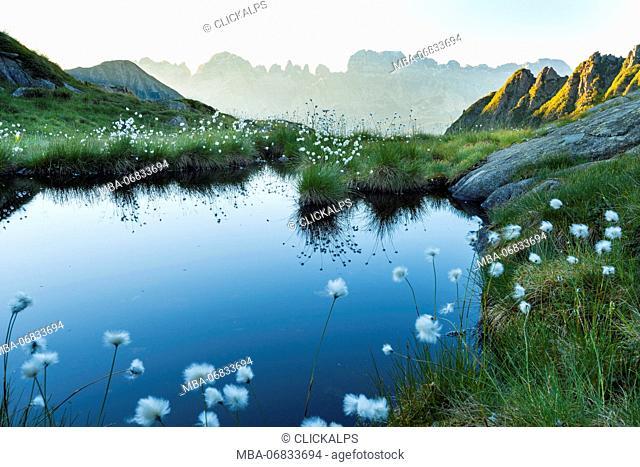 Alpine lake to Nabrone valley Europe, Italy, Trentino, Nambrone valley, Rendena valley, Sant'Antonio di Mavignola, Carisolo, Madonna di Campiglio