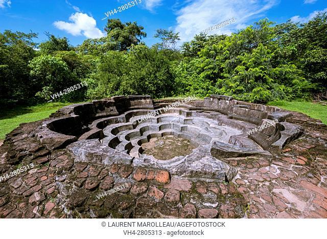 Nelum Pokuna or Lotus Pond, Ancient City of Polonnaruwa, North Central Province, Sri Lanka, Asia