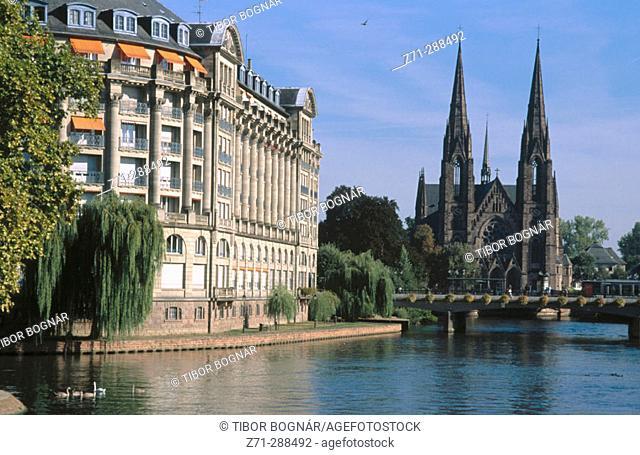 Church of St. Paul. Strasbourg. Alsace. France