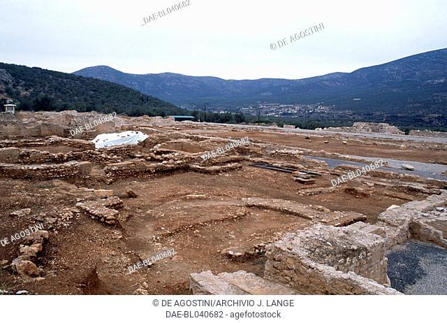 Ruins of the villa of Herodes Atticus, Doliana, Greece. Roman civilisation, 2nd century AD