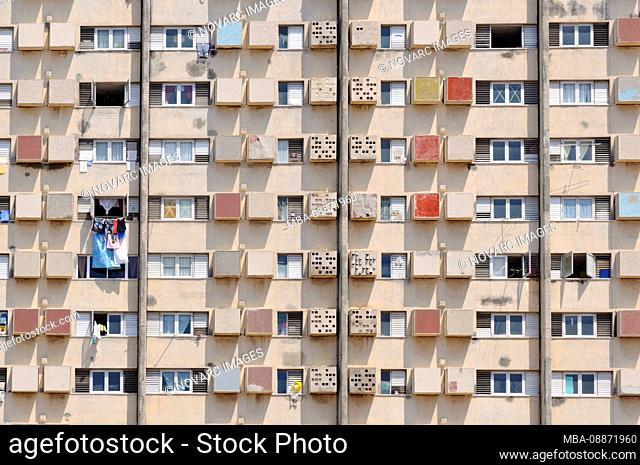 Apartment Building, Havana, Cuba, Caribbean