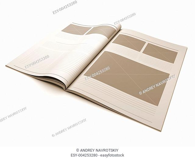 Magazine blank page for design layout