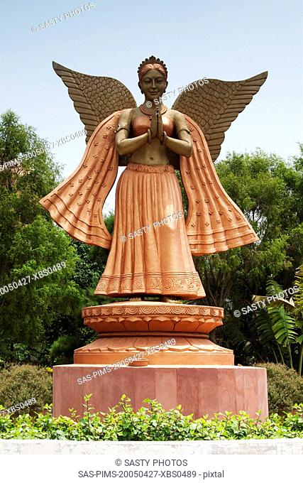 Statue of a fairy in a park, New Delhi, India