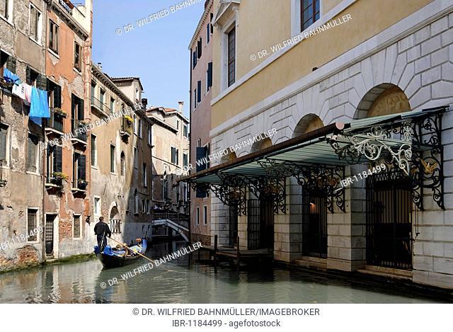 At the Gran Theatro la Fenice, San Marco quarter, Venice, Venezia, Italy, Europe