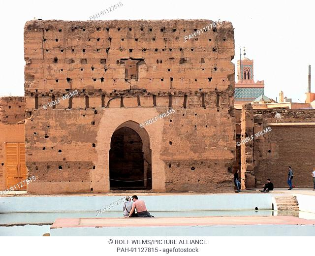 Palais El Badii: The mighty tower, the walls with the gate and the large basin of water still show the power and wealth of the rulers