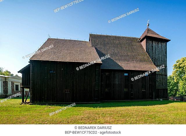 Saint John the Baptist Church, Biskupice village in Greater Poland Voivodeship, Poland
