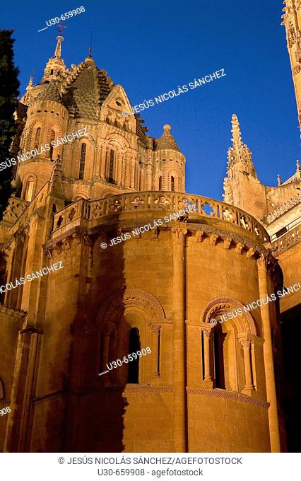 Catedral Nueva ('new cathedral') and  Catedral Vieja ('old cathedral'). Salamanca. Castilla-León, Spain