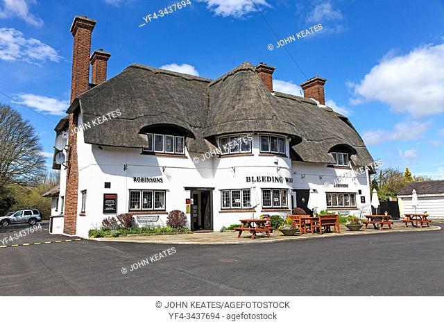 The Bleeding Wolf public house or pub, Scholar Green, Cheshire, England, UK