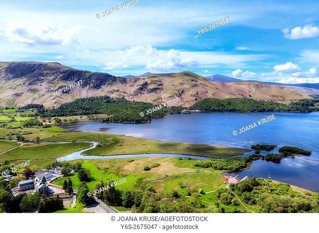Keswick, Derwentwater, Lake District, Cumbria, England, UK