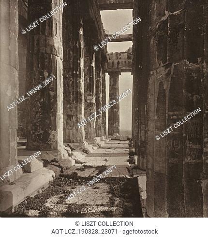 The Acropolis of Athens album: Western Portico of the Parthenon, 1882. William James Stillman (American, 1828-1901), The Autotype Company