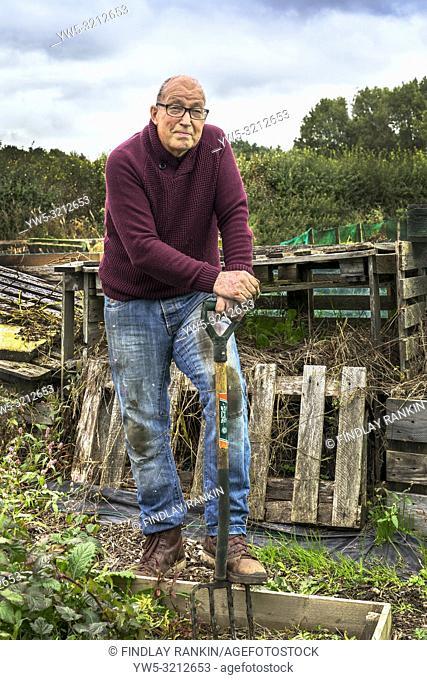 Raymond Paxton, Plot 16 at Eglinton Growers allotments, Kilwinning, Ayrshire, Scotland