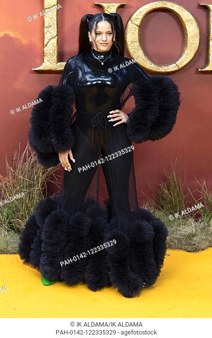 Rosalia attends THE KING LION European Premiere at Leicester Square. London, UK. 14/07/2019 | usage worldwide. - London/United Kingdom of Great Britain and...