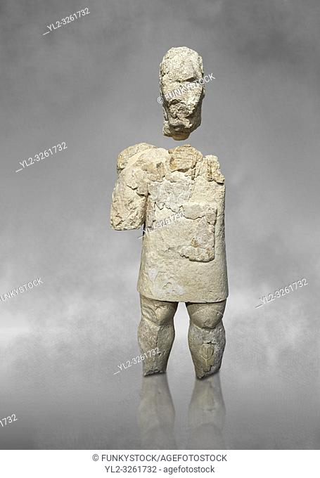 9th century BC Giants of Mont'e Prama Nuragic stone statue of a boxer, Mont'e Prama archaeological site, Cabras. 2014 excavation
