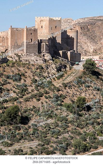 Medieval moorish fortress Alcazaba in Almeria, Eastern tip is the bastion of the outgoing, Andalusia, Spain